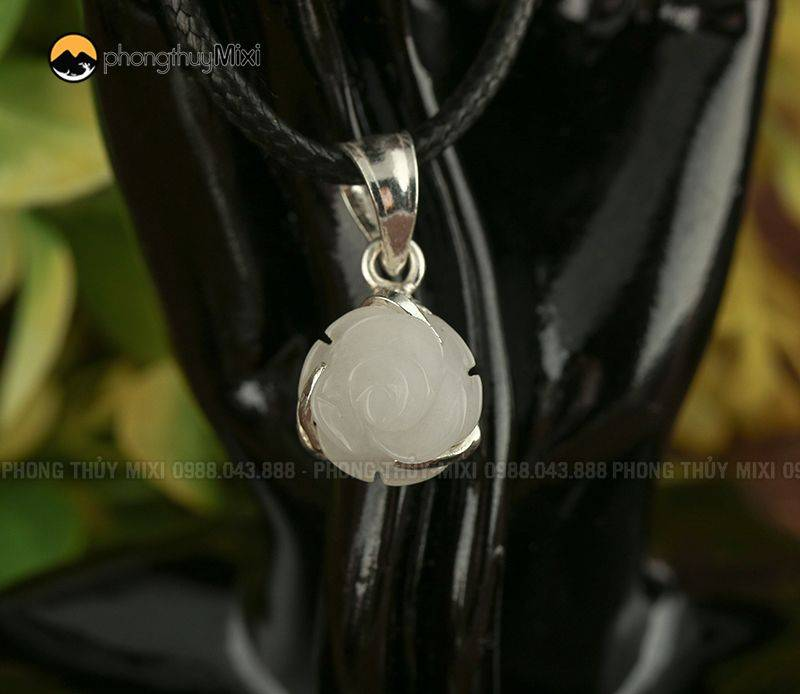 Hoa Mẫu Đơn mã não trắng Bọc bạc